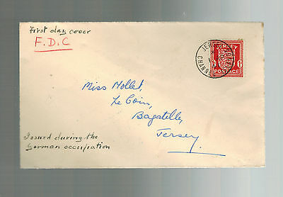 1941 Occupied Jersey Channel Island England first day cover fdc to Miss Mollet