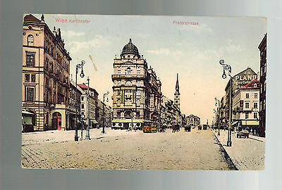 1908 Vienna Austria Picture postcard Cover Karl Theater Prater Strasse to USA