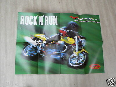 D333 Brochure Poster Moto Guzzi 1999 English 8 Pages V11 Sport Superposter