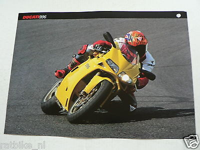 D368 Brochure Ducati 996  English 2 Pages 1999