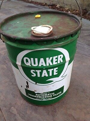 Quaker State Gas Oil Station Advertising Sign 5 Gallon Can