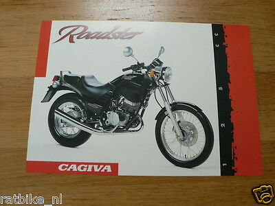 D377 Brochure Cagiva Roadster 125 Italian,Engish 2 Pages