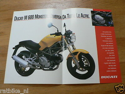 D381 Brochure Ducati Monster 600 English,German,French,Italian 4 Pages