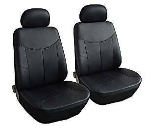 Ford Fiesta Van (02-11) Leather Look Black Van Seat Covers Single 1+1