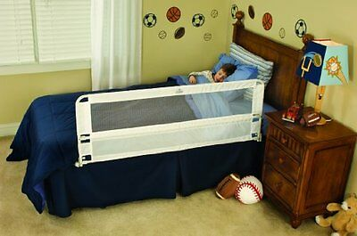 Regalo Hide Away Extra Long Bed Rail, White -- New Free Shipping
