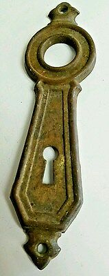 Antique Vintage Hardware Door Bell Button Skeleton Key Hole Plate Cover