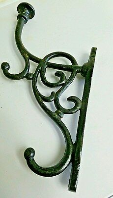 Vintage Cast Iron Ornate Design Coat Lamp Hardware Wall Mount Hook