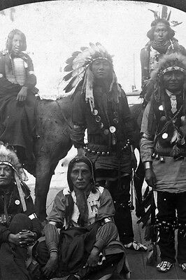 """New 5x7 Native American Photo: Indians from the """"Wild West"""" at World's Fair"""