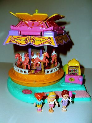 Vintage Polly Pocket 1996 Spin Pretty Carousel 100% Complete Excellent cond