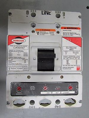 F.p.e. Horizon Cjm3600Ef 600A 600V Molded Case Breaker With Lt3600T Trip (Used)
