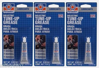 3 New! PERMATEX 81150 DIELECTRIC TUNE-UP GREASE Lube Lubricant Oil 0.33 ounces