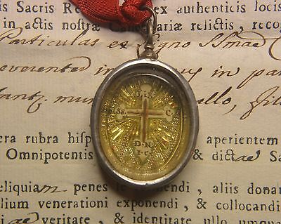 shrine RELICARIO relic RARE RELIQUARY TRUE CROSS D.N.J.C. epoch 1761