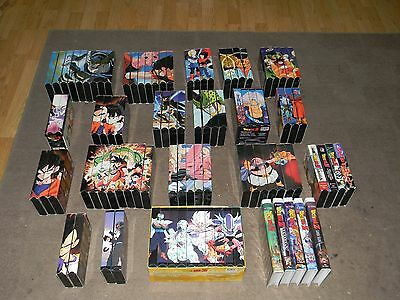 Dragon Ball Z VHS Collection Of 96 Tapes Looks Complete Great Cond Most Uncut