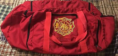 Large FIRE FIGHTER EQUIPMENT BAG ... RED , Duffle Bag, 5 Zippered Compartments
