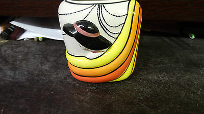 Lorna bailey  DECO LADY VASE old backstamp FREE P&P