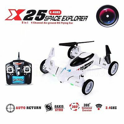 SY X25 2.4G 6-Axis 8CH Speed RC Quadcopter Drone Car RTF HD +Camera 2MP