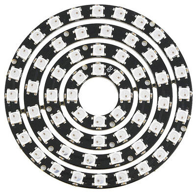 8/12/16/24 Bit WS2812 5050 RGB LED Ring Circle Board with Integrated Driver