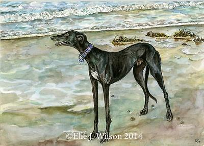 """A very special moment""- Greyhound Art Dog Print"