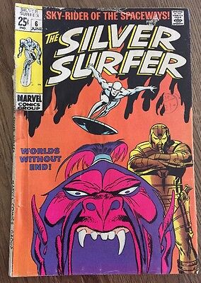 Silver Surfer #6 Worlds Without End Comic June 1969
