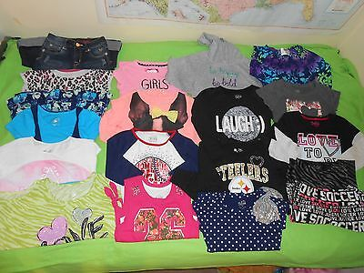Girl's 17 Piece ALL JUSTICE Mostly NEW Clothing Lot Size 8