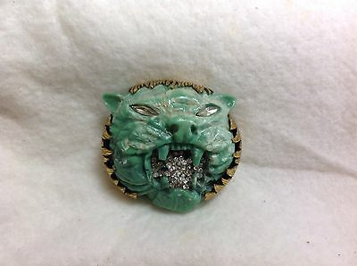 Vintage Borbonese RARE Italian Tiger Pin Brooch Couture  Made in Italy,REDUCED!