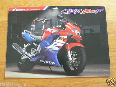 Hap-424 Honda  Brochure Prospekt Folder Cbr600F Dutch 8 Pages 1998 ?