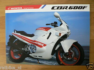 Honda Brochure Prospekt Folder Cbr600F Dutch 8 Pages Ph508