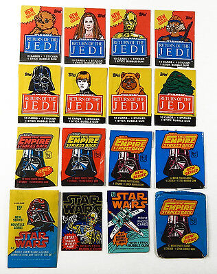 Lot of (16) 1977-1983 Topps O-Pee-Chee Star Wars Trading Card Wax Wrappers