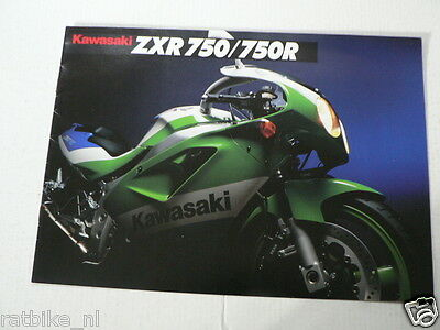 K248 Kawasaki  Brochure Zxr750 & 750R English 8 Pages Motorrad,Motorcycle