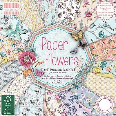 Dovecraft First Edition Paper Pad Paper flowers;Scrapbooking Papier 15.2x15.2cm