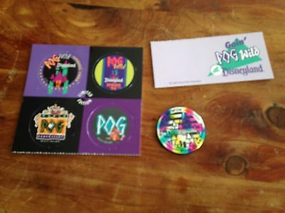 Disney Set Of Pogs And Slammer Rare! Htf! 1994 World Pog Federation Event