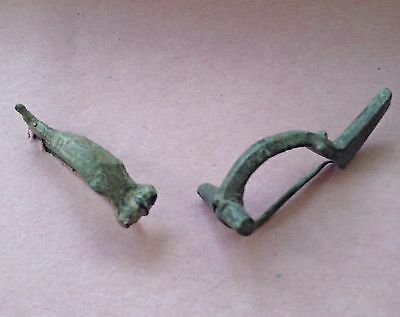 Group of Two Roman Bronze Fibulae (Brooches), 2nd-3rd Century AD