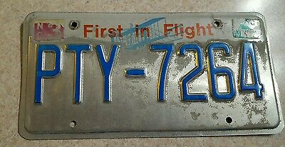 North Carolina NC License Plate First in Flight PTY-7264 ~FastFreeShip~