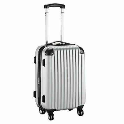 """20"""" Expandable ABS Carry On Luggage Travel Bag Trolley Suitcase Gray"""