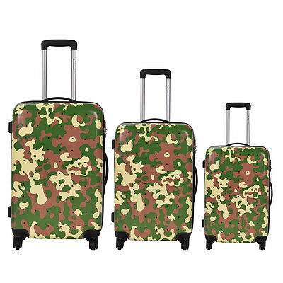 3 Pcs Luggage Travel Set Bag GLOBALWAY ABS+PC Trolley Suitcase Wheels Coded Lock