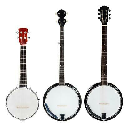 New 4/5/6 String Banjo Full Size with Closed Back Brackets Head & Maple Neck