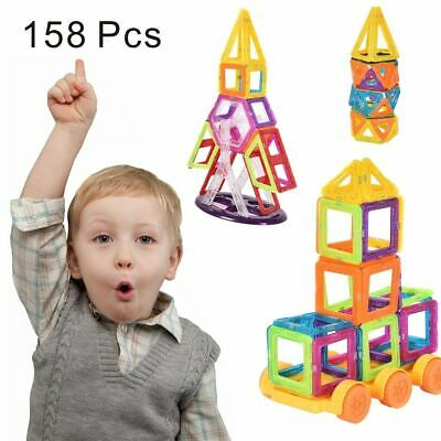 158 Pcs Magical Magnet Building Block Educational Toy For Kids Colorful Gift Set