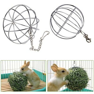 Sphere Feed Dispenser Hanging Ball Toy Guinea Pig Hamster Rat Rabbit Pet Supply