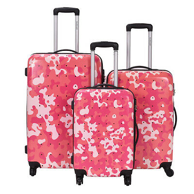 3 Pcs Luggage Travel Set Bag GLOBALWAY ABS+PC Trolley Suitcase Wheels New
