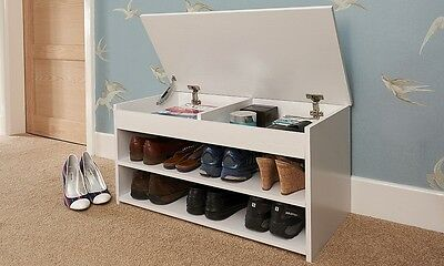 Shoe Cabinet Storage Organizer Rack Entryway Hallway Shelves Bench Lift Up Lid