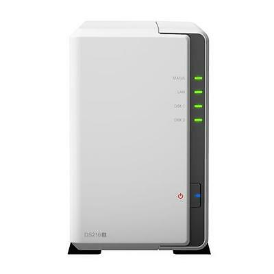 Synology Ds216J - 2Bay 1.0 Ghz Dc 1X Gbe 3Xusb3.0 In