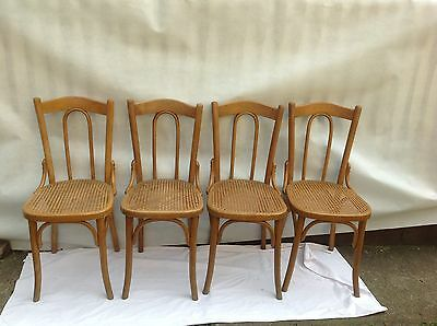 4 Antique Original Thonet Bentwood Chairs Caned Seat • £120.00