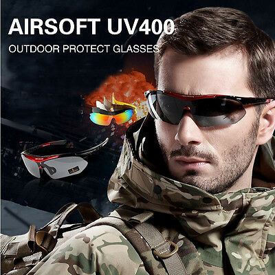 Airsoft UV400 Tactical Outdoor Sports Protection Protect Glasses Cycling Hikings