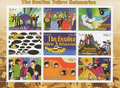 The Beatles Yellow Submarine John Lennon Paul Mccartney 2003 Mnh Stamp Sheetlet