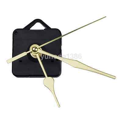 HOT Quartz Clock Movement Sweep Mechanism Long Spindle Gold Hand Kit DIY Useful