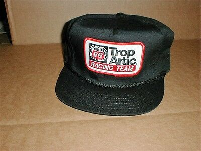 Phillips 66 Trop Artic racing team vintage snapback made USA cloth trucker hat B