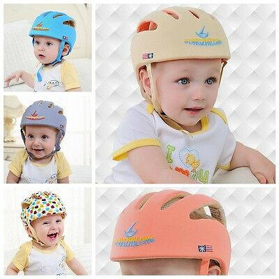 Toddler Kid Safety Adjustable Helmet Headguard Cap Harnesses Protective Hat Baby