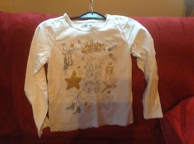 Girls white long sleeved t-shirt by Tu age 8