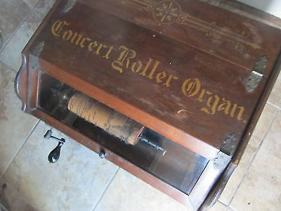 Antique 1908 Autophone Roller Organ, Ithaca  Manufacturering Co., + 26 Cylinders