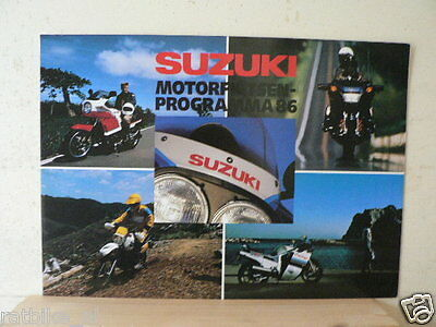 S050 Brochure Suzuki 1986 All Models Big Size Prospekt,Folder,Gsx-R.rg500.Rg250,